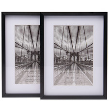 "Matte Premium Metallicus 4 x 6"" Metal Photo Frames (Set of 2)"