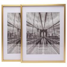 "Matte Premium Metallicus 8 x 10"" Metal Photo Frames (Set of 2)"