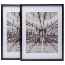 "Matte Premium Metallicus 8 x 10"" Metal Photo Frames (Set of 2)"