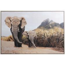 Elephant Framed Canvas Wall Art