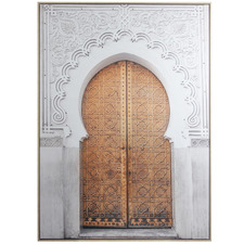 Moroccan Doors Framed Canvas Wall Art