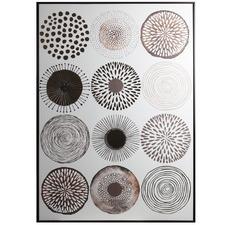 Round Pattern Framed Canvas Wall Art