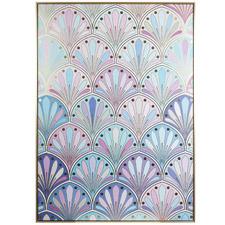 Seamless Flower Framed Canvas Wall Art