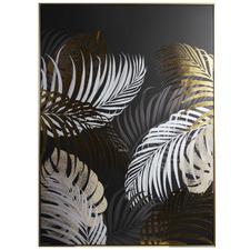 Foil Leaves Framed Canvas Wall Art