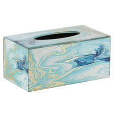 Agate Blue Liquid Glass Tissue Box
