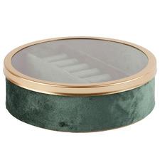Round Tessa 6 Slot Velvet Jewellery Box