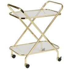 Gold Jester Metal & Glass Bar Cart