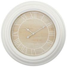 60cm White & Natural Daria Wall Clock