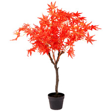 90cm Potted Faux Maple Tree