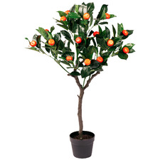 95cm Potted Faux Orange Tree