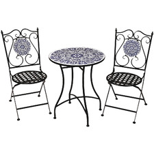 2 Seater Blue Dynasty Outdoor Bistro Set