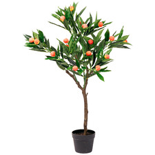 95cm Potted Faux Peach Tree