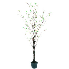 160cm Potted Faux White Cherry Blossom Tree