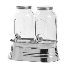 3 Piece Yorkshire Mason 3.7L Glass Dispensers & Metal Base Set
