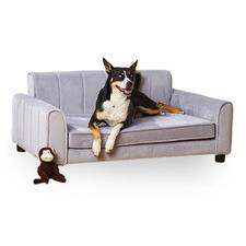 Grey Ludlow Velvet Pet Bed