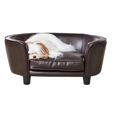 Brown Coco Faux Leather Pet Bed