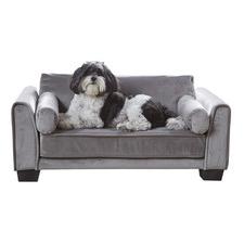 Grey Jordan Velvet Pet Bed