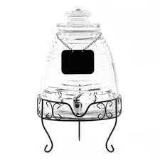 Beehive 8.5L Glass Dispenser with Metal Stand