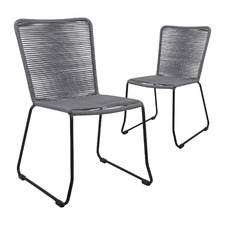 Misch Woven Jute Dining Chairs (Set of 2)
