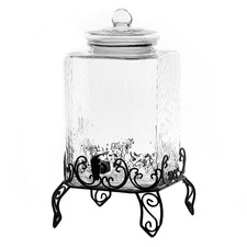 Verona 18L Glass Dispenser with Metal Stand