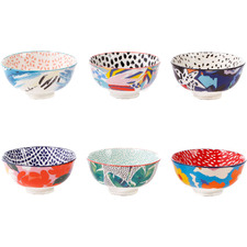6 Piece Garden Lifestyle 12cm Ceramic Rice Bowl Set