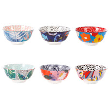 6 Piece Garden Lifestyle 15.5cm Ceramic Soup Bowl Set