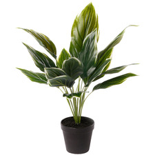 47cm Potted Faux Hearty Plant