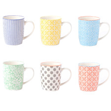 6 Piece Viola 300ml Ceramic Mug Set