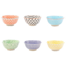 6 Piece Viola 15.5cm Ceramic Soup Bowl Set