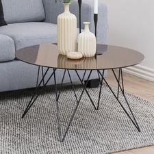 Bronze Madison Glass Coffee Table