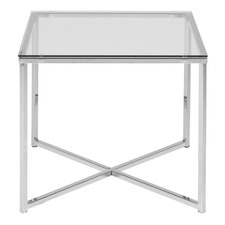 Orlando Square Glass End Table