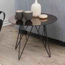 Bronze Madison Glass Lamp Table