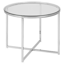 Orlando Round Glass End Table