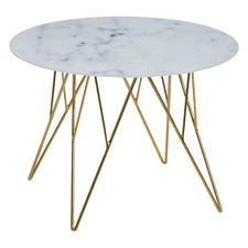 Madison Faux Marble Lamp Table
