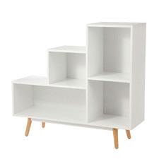 White Campbell Bookshelf
