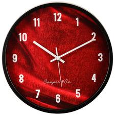Burgundy Vogue Silent Wall Clock
