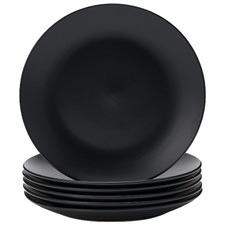 Black Annisa 26cm Stoneware Dinner Plates (Set of 6)