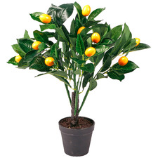 50cm Potted Faux Lemon Tree