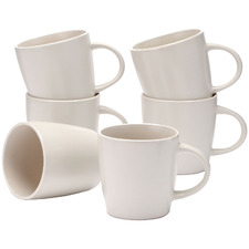 Cream Annisa 290ml Stoneware Mugs (Set of 6)