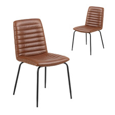 Flynn Faux Leather Dining Chairs (Set of 2)