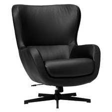 Black Aria Faux Leather Armchair