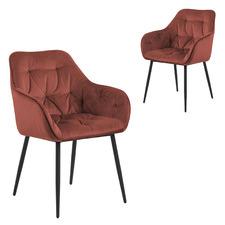 Frankfurt Velvet Dining Chairs (Set of 2)