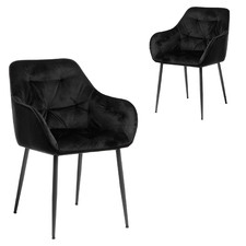 Frankfurt Velvet Dining Chairs (Set of 2)