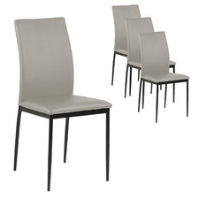 Willis Faux Leather Dining Chairs (Set of 4)