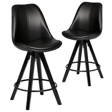 60cm Ivy Faux Leather Barstools (Set of 2)