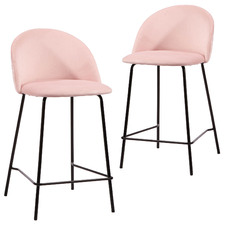 60cm Luna Velvet Barstools (Set of 2)