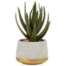 21cm Potted Faux Aloe Vera Plant