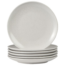 White Mari 20cm Ceramic Side Plates (Set of 6)
