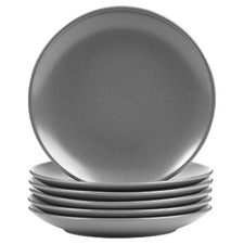 Charcoal Mari 20cm Ceramic Side Plates (Set of 6)