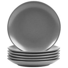 Charcoal Mari 26cm Ceramic Dinner Plates (Set of 6)